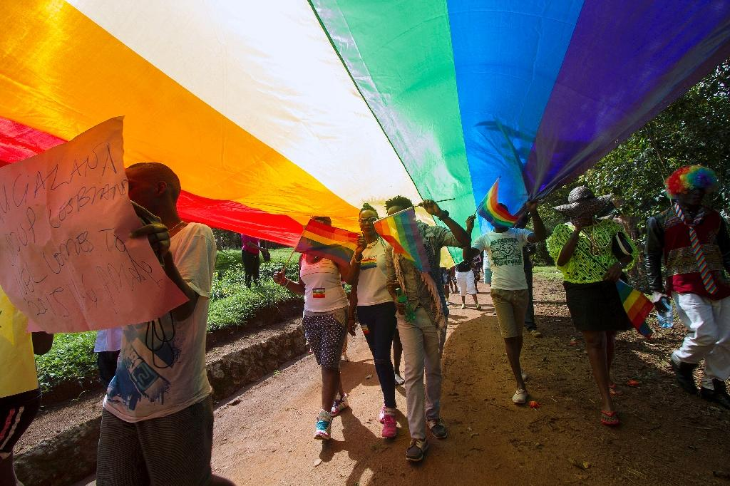 Uganda is notorious for its intolerance of homosexuality -- which is criminalised in the country -- and strict Christian views on sexuality in general (AFP Photo/ISAAC KASAMANI)