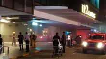 I12 Katong Mall cordoned off, smoke and firefighters seen