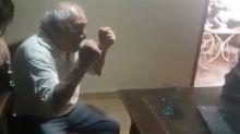 VIDEO | La emotiva reacción de un abuelo al enterarse que su nieto terminó la universidad
