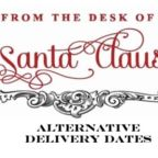 """If You Have to Work on Christmas, Santa Can Send This Sweet """"Alternative Delivery Dates"""" Note to Your Kids"""