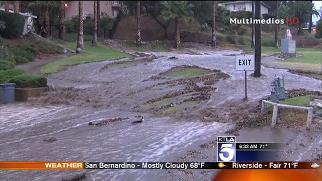 Clean Up Begins After Flash Flooding in San Bernardino County