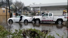 Low Car Caught in High Water on Charleston Street