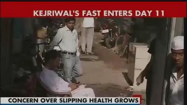 High drama on streets on Day 10 of Kejriwal's fast