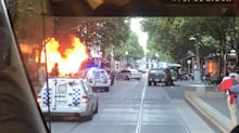 One dead after man goes on knife-wielding rampage before shot by police in Melbourne's Bourke St