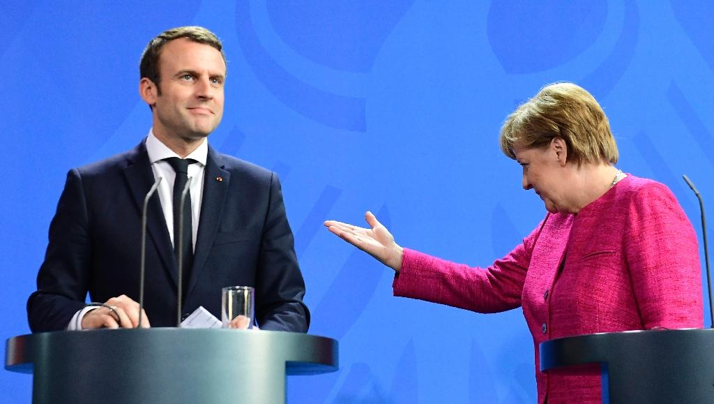 German Chancellor Angela Merkel and French President Emmanuel Macron have forged a strong working relationship (AFP Photo/Tobias SCHWARZ)