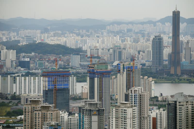 FILE PHOTO: An apartment complex which is currently under construction is seen in Seoul
