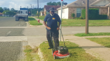 Bus driver captured mowing overgrown weeds at school bus stop: 'My kids have to stand there'