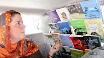 Iranian Couple's Taxi Doubles as a Book Store