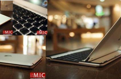 Aluminum Keyboard Buddy Case cloaks your iPad 2 in a MacBook Air duvet