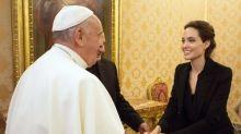Angelina Jolie Met the Pope, Screened 'Unbroken' in Vatican City