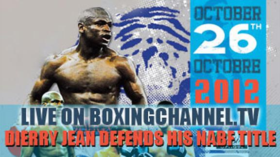 Friday Oct 26, Live Boxing on the Boxing Channel!