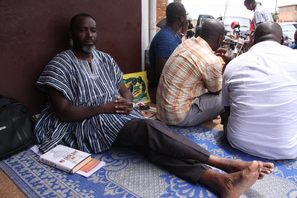 Togo opposition leader Nicodeme Ayao Habia, pictured here on September 27, has been on hunger strike since September 19