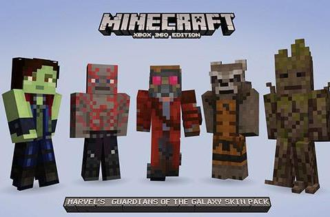 Guardians of the Galaxy skins to appear in Minecraft