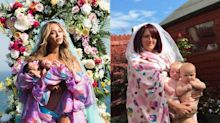 El último reto viral: parodiar la icónica imagen de Beyoncé con sus gemelos