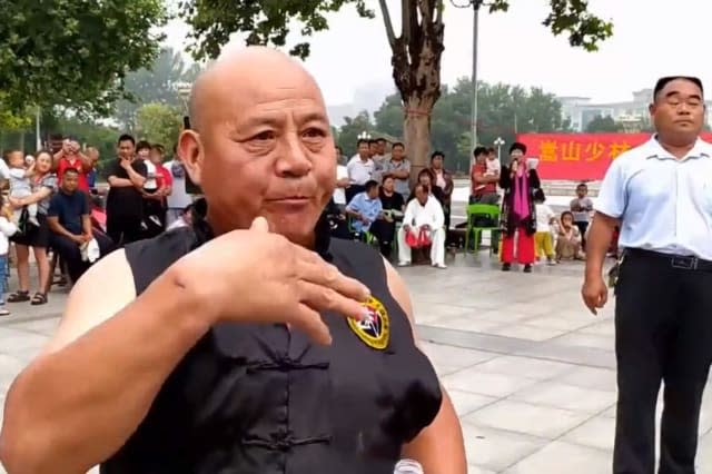 Chinese man shows off incredible kung fu skills by eating glass and nails