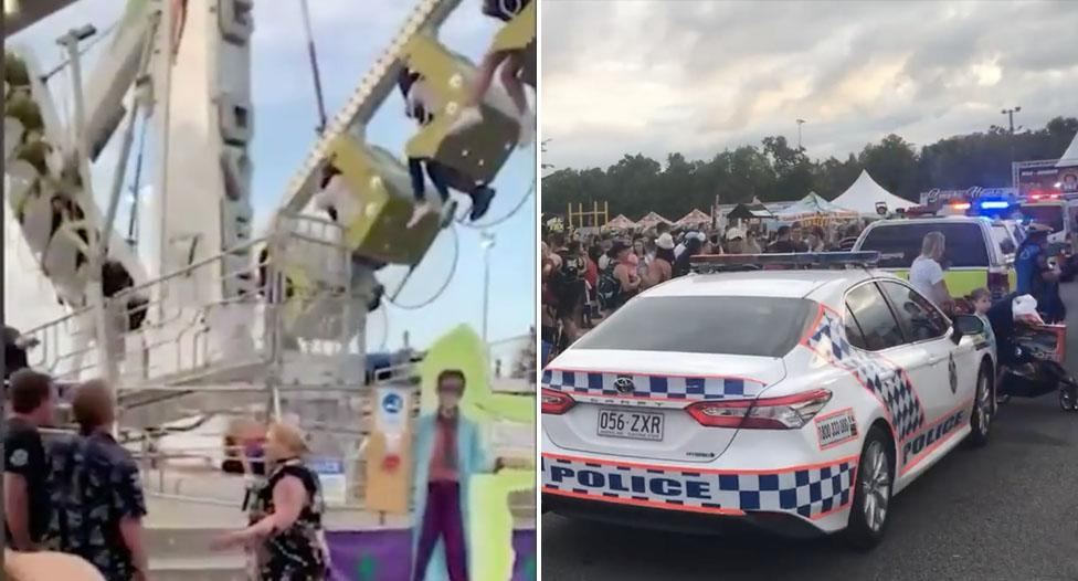 Cairns show organisers speak out after woman's 30-metre ride fall
