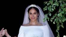 Watch Meghan Markle React to Her Wedding Dress the Day Before She Married Prince Harry