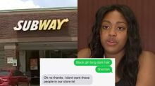 Subway manager fired for denying job to black teen: 'I don't want those people in our store'