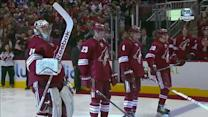Olympians honored before Blackhawks-Coyotes