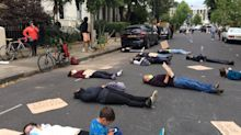 Coronavirus: 'Die-in' outside Dominic Cummings's house over COVID-19 response