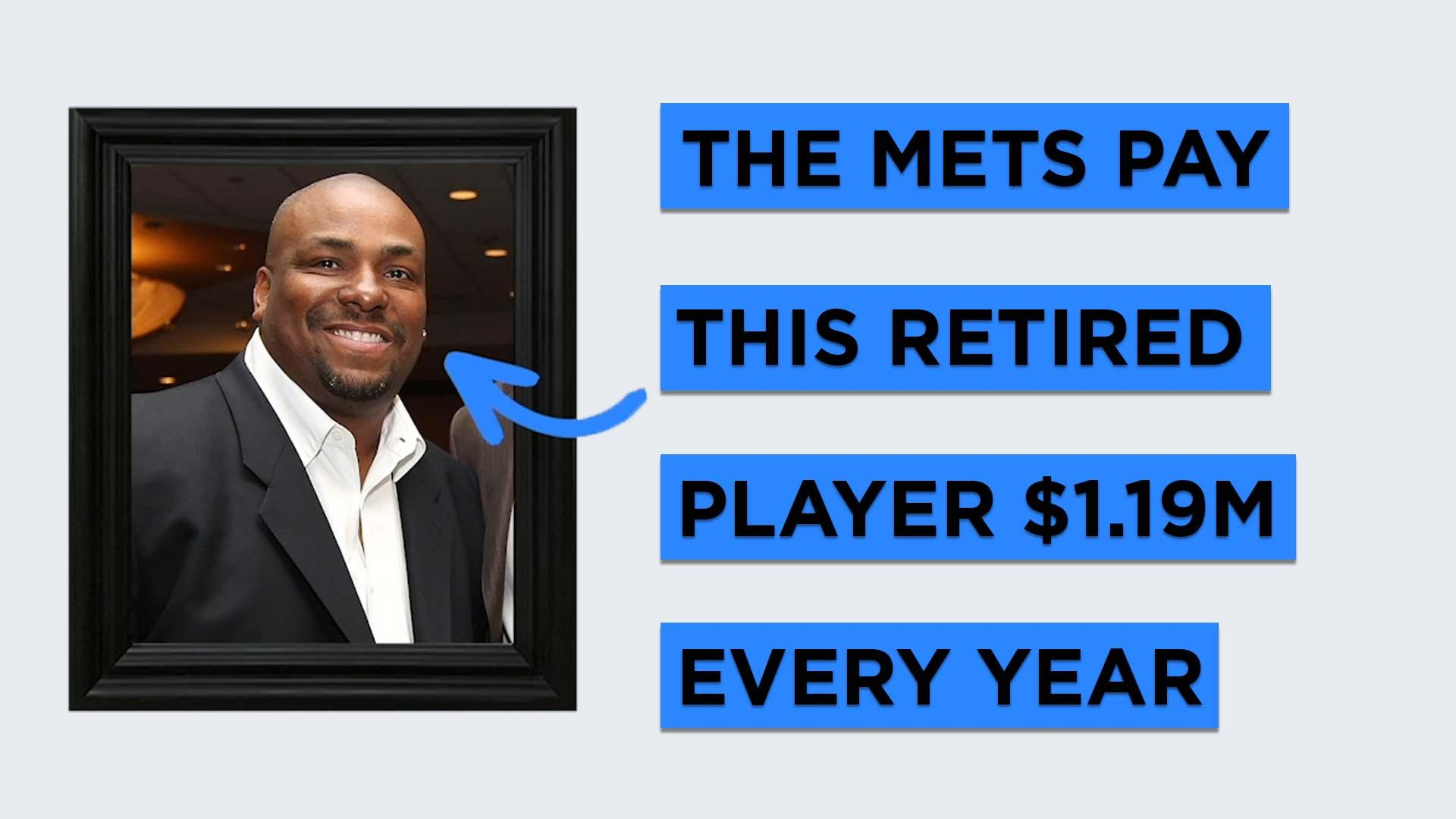 The New York Mets write a check to this retired player $1.19 million every year