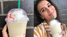 I tried Starbucks' new Strawberry Funnel Cake Frappuccino and it actually tasted like the carnival classic