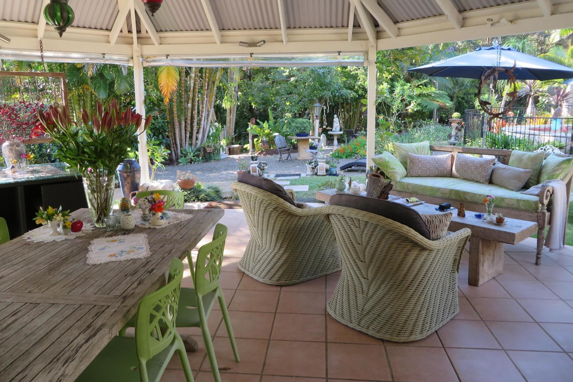 """The Noosa Valley Manor B&B can be found in the privacy of the rainforest in Queensland, Australia and all water used in the property is pure filtered rainwater. They also use chemical free cleaning products, have a recycling program in place, source produce from local growers and have organic and biodegradable room amenities. Find out more on their <a href=""""http://noosavalleymanor.com.au/facilities/"""" target=""""_blank"""">website</a>."""