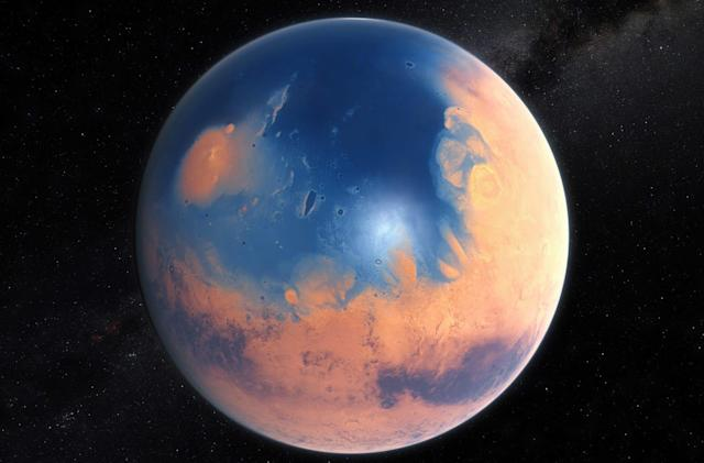 Meteor impact may have started a 'mega-tsunami' on early Mars