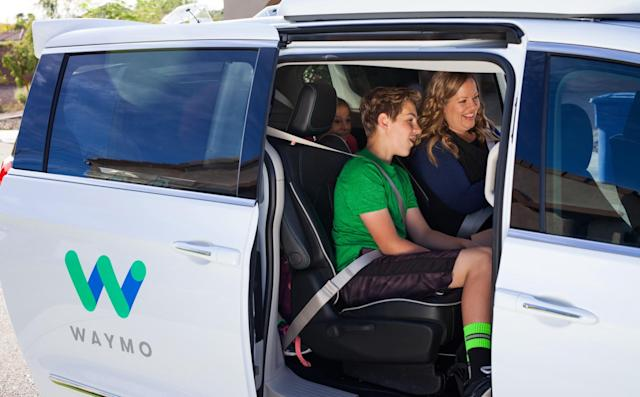 Waymo is ready to offer public rides in its self-driving minivans