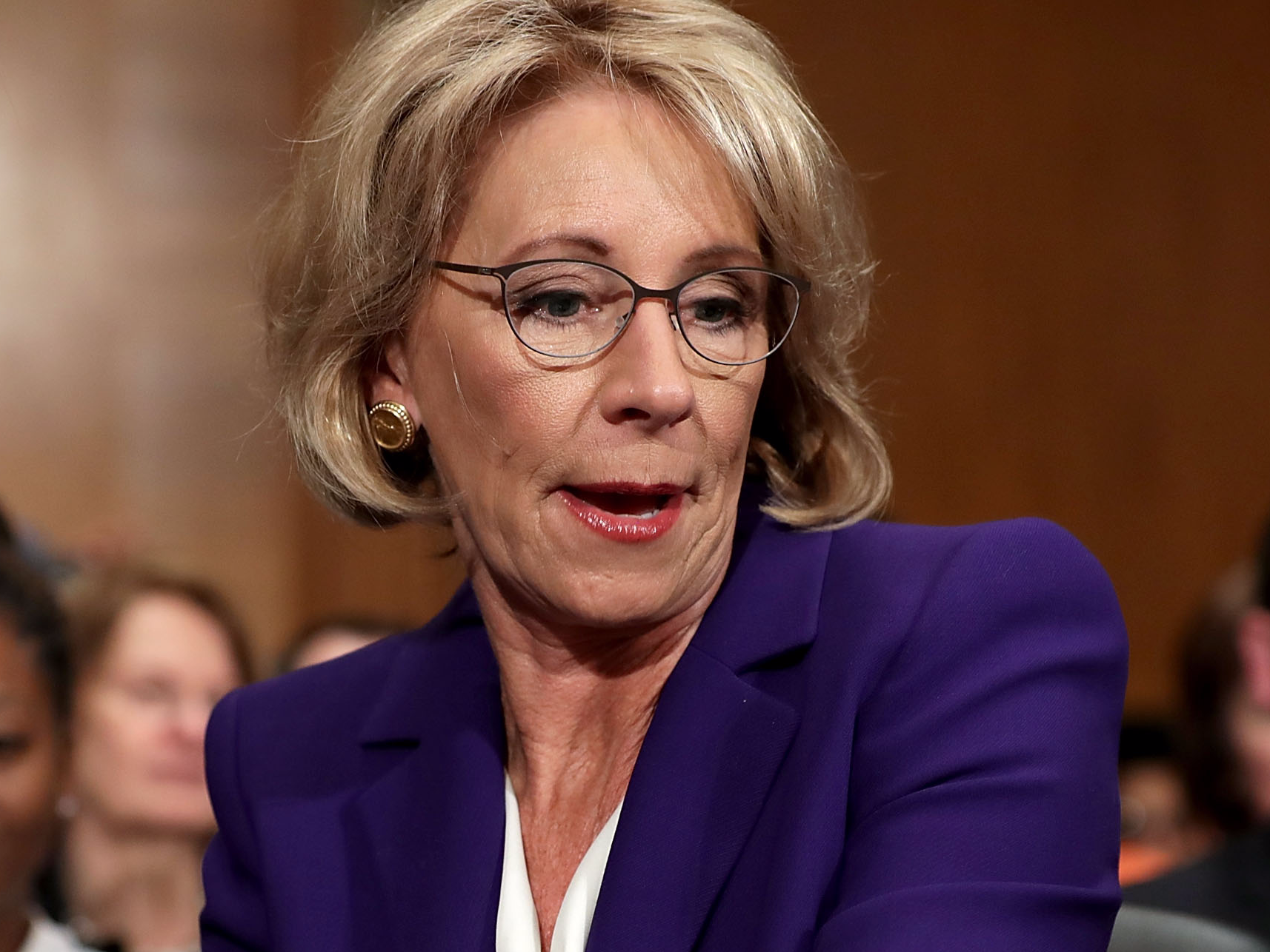 Betsy Devos Trumps Education Pick Plays >> Betsy Devos Becomes First Trump Cabinet Pick To Fall In Danger Of