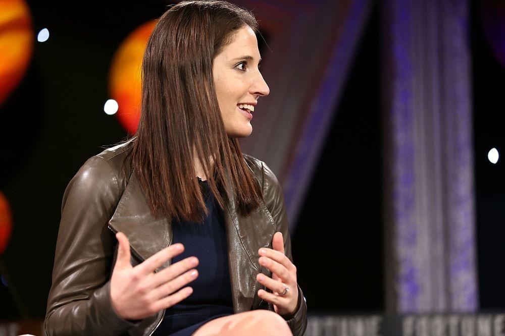 Rachel Holt speaks at Fortune's Most Powerful Women Next Gen 2016 on November 30, 2016 in Dana Point, California. (Joe Scarnici/Getty Images)