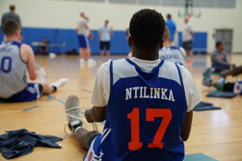 That is not how you spell Frank Ntilikina's name, Knicks. (Photo via Knicks.com)