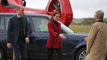 Kate Middleton brilla en rojo