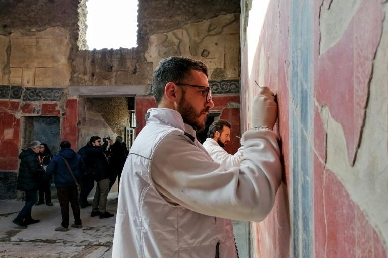 The restoration included teams of archaeologists, architects, engineers, geologists and anthropologists and cost $113 million (105 million euros) (AFP Photo/Alexandria SAGE)