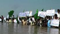 Tribals launch protest in water against polavaram project