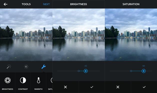 Instagram adds nine new editing tools, makes filters adjustable