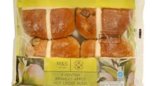 Vegan hot cross buns have just arrived at Marks & Spencer