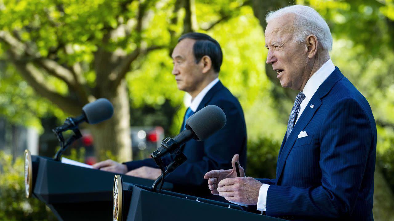 Biden and Japan's Suga announce