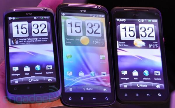 HTC Sensation versus Incredible S and Desire S... a family scuffle