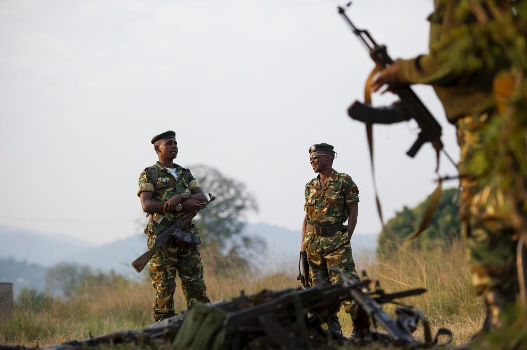 Soldiers guard a voting station in the opposition stronghold of Musaga in Bujumbura, Burundi, on June 29, 2015