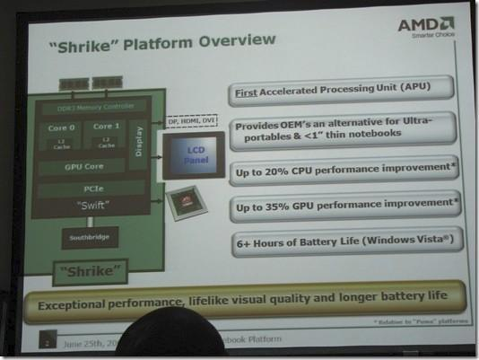AMD's first Fusion chips to be targeted at ultraportables