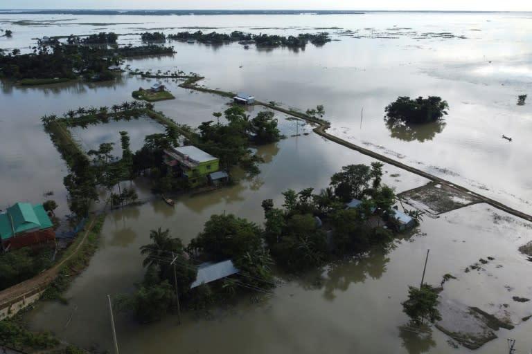 The heavy monsoon flooding comes as Bangladesh is also grappling with the coronavirus (AFP Photo/Munir UZ ZAMAN)