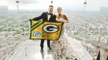 Green Bay fanatic marries woman named Marie Packer in team-themed wedding