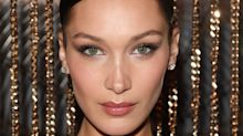 Bella Hadid Takes a Glamorous Beauty Cue from This Bulgari Diamond Necklace in Milan