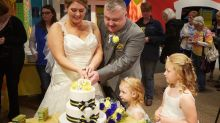 British couple travels nearly 4,000 miles for Spam-themed wedding