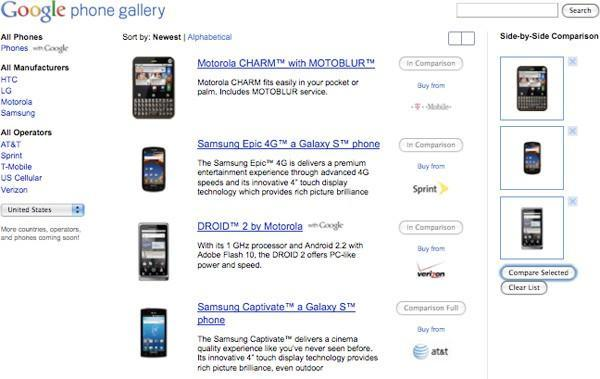 Google opens Android database at former phone store URL, but only for devices using Google services