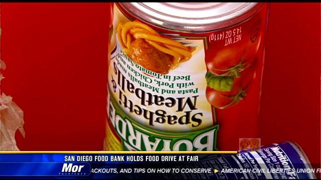 San Diego Food Bank holds food drive at San Diego Fair