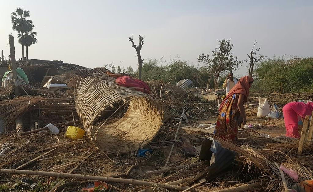 Whole villages have been flattened and families were left mourning the death of relatives killed by trees and the debris (AFP Photo/Prakash MATHEMA)
