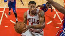 Derrick Rose proving his passion for the game