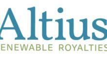 Altius Renewable Royalties Corp. Announces Exercise of Over-Allotment Option